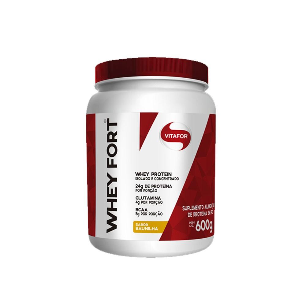 Whey Fort 600g Baunilha - Vitafor  - KFit Nutrition