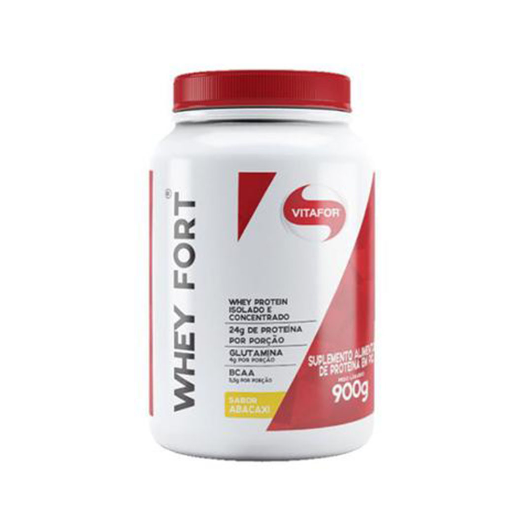Whey Fort 900g Abacaxi - Vitafor  - KFit Nutrition