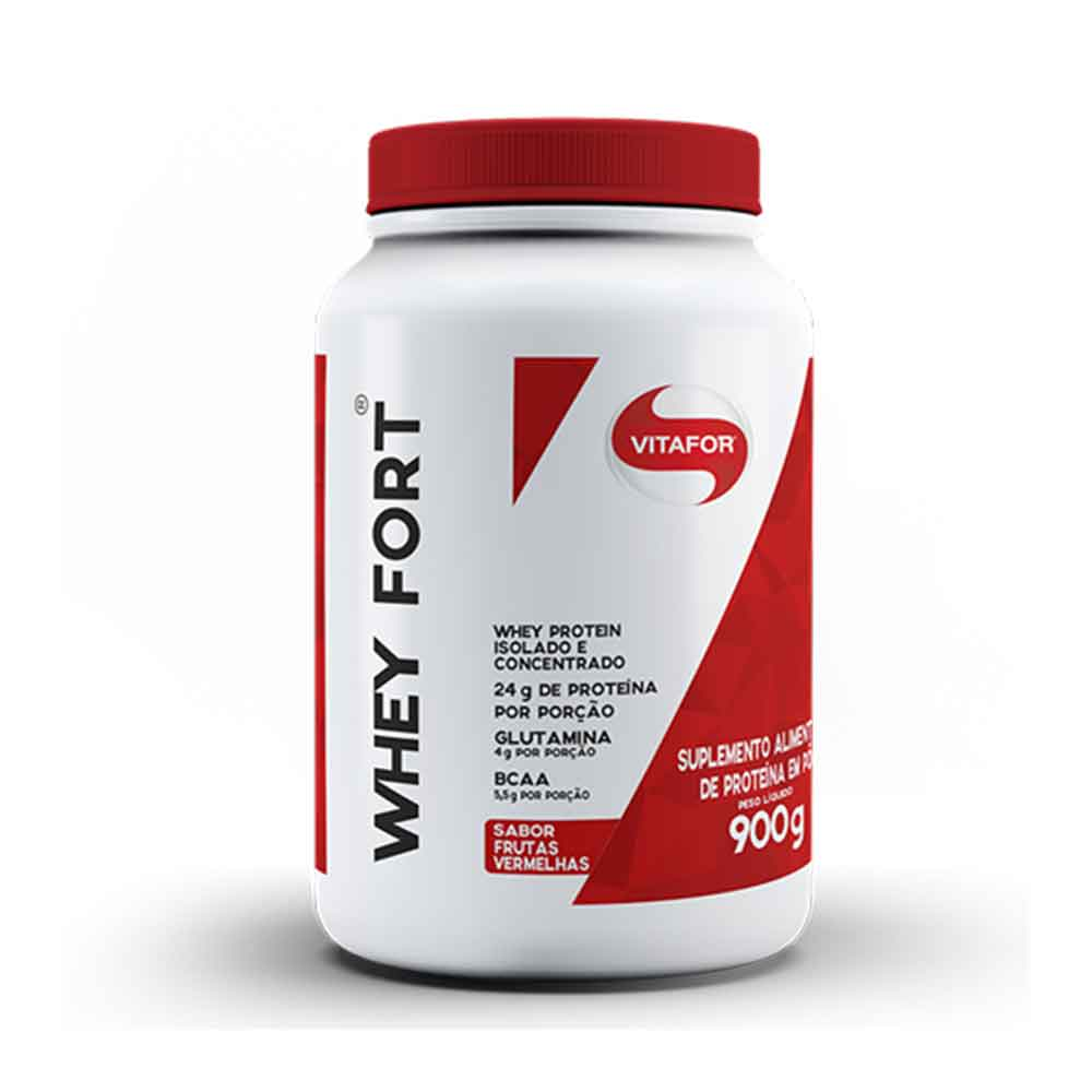 Whey Fort 900g Frutas Vermelhas  - KFit Nutrition