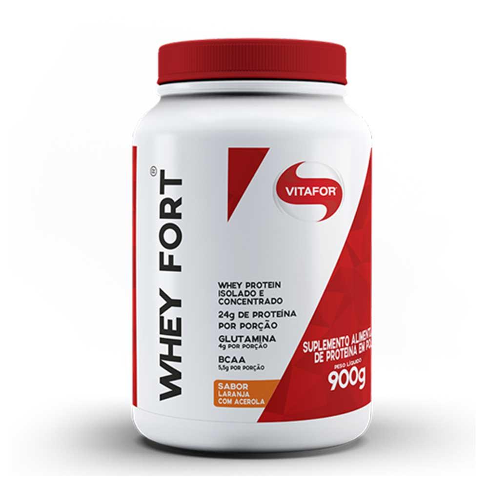 Whey Fort Vitafor 900g Laranja com Acerola  - KFit Nutrition