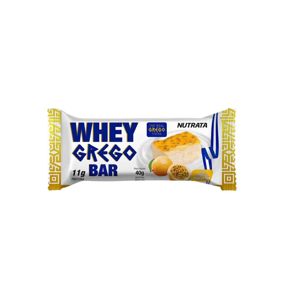 Whey Grego Bar 40g Mousse Maracuja - Nutrata  - KFit Nutrition