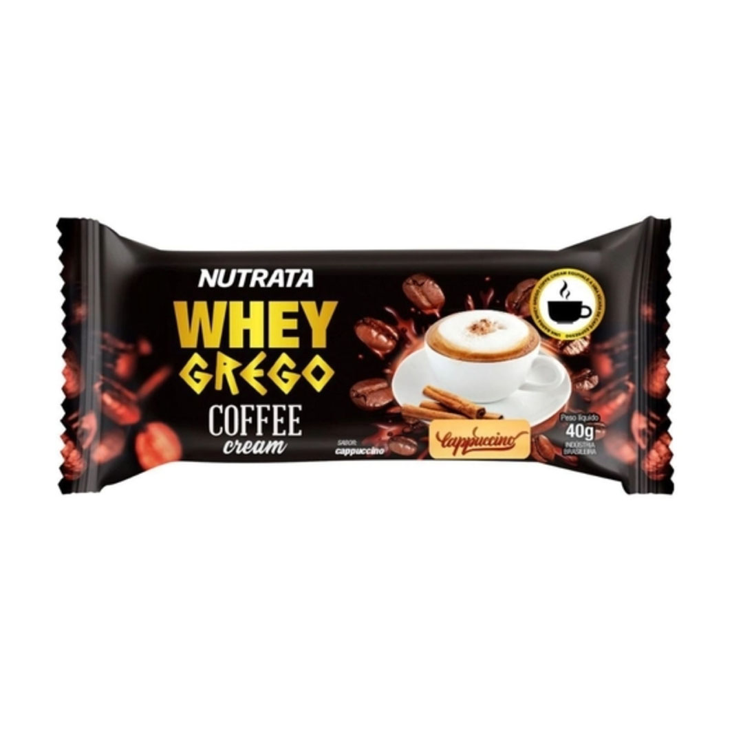 Whey Grego Bar Coffee Cream Cappuccino 480g Cx 12un - Nutrata  - KFit Nutrition
