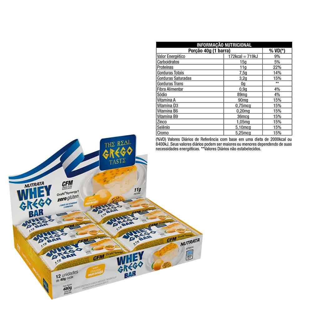 Whey Grego Bar Mousse Maracuja Cx 12 Un  - KFit Nutrition