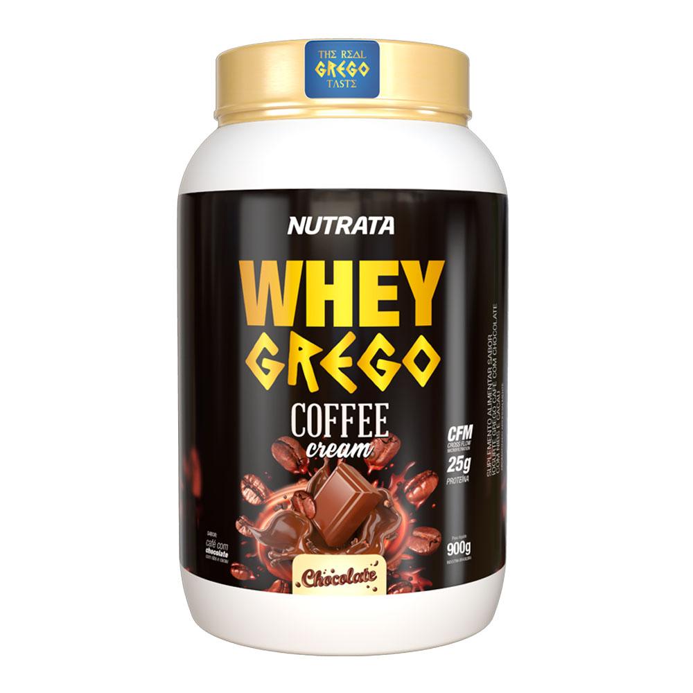 Whey Grego Coffe Cream Chocolate 900g - Nutrata  - KFit Nutrition