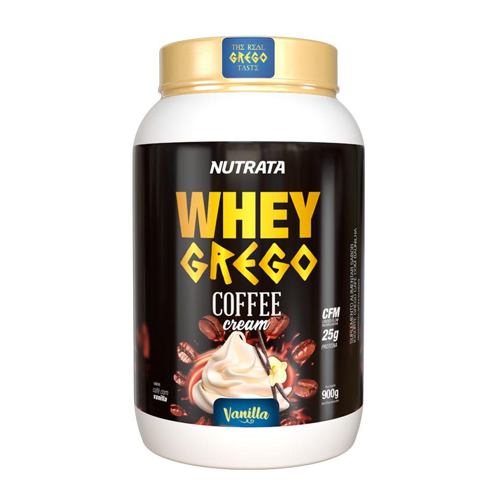 Whey Grego Coffe Cream Vanilla 900g - Nutrata  - KFit Nutrition