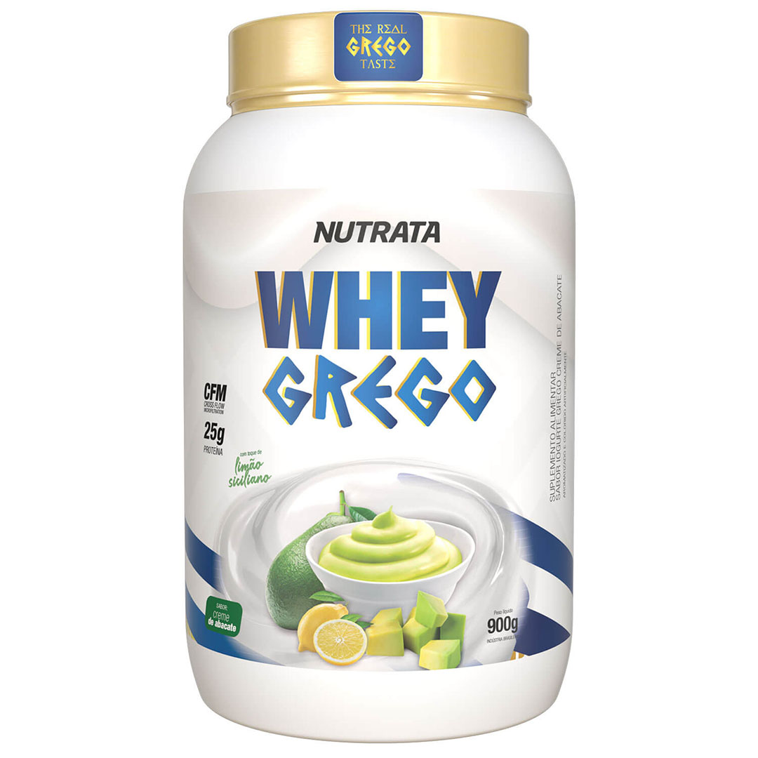 Whey Grego Creme de Abacate 900g - Nutrata  - KFit Nutrition
