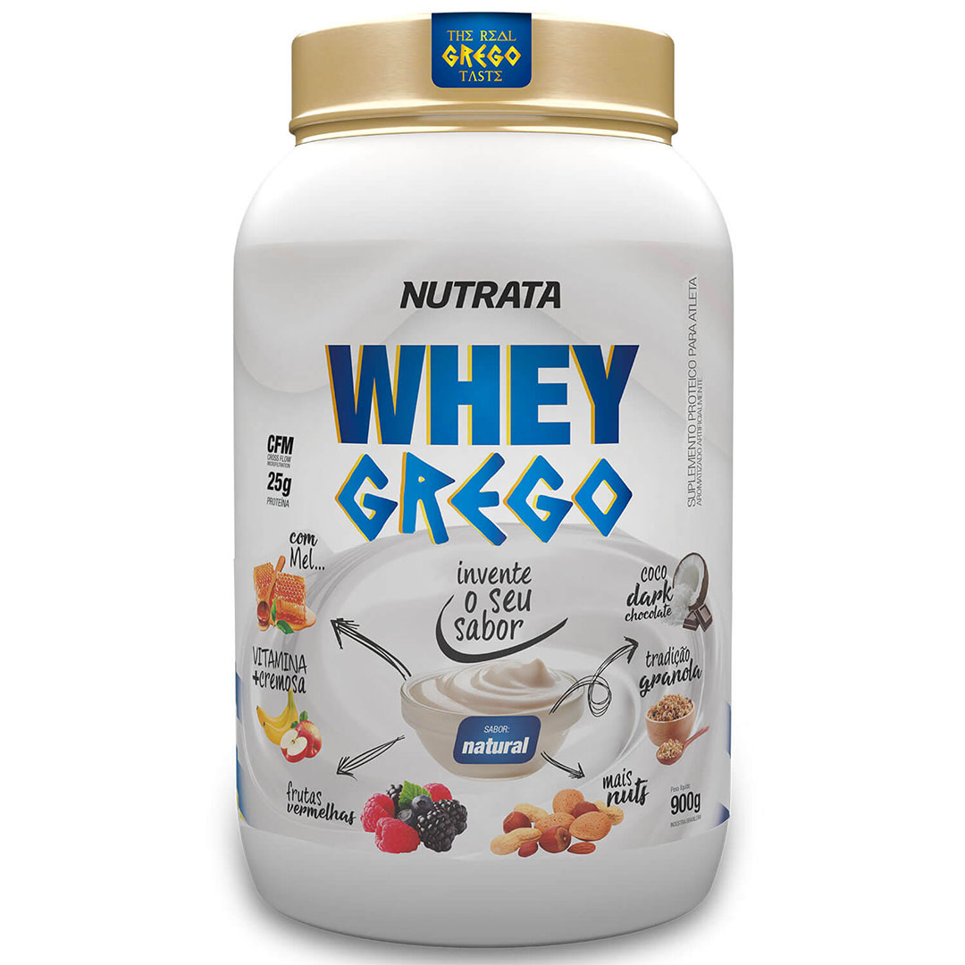 Whey Grego Iogurte Natural 900g - Nutrata  - KFit Nutrition