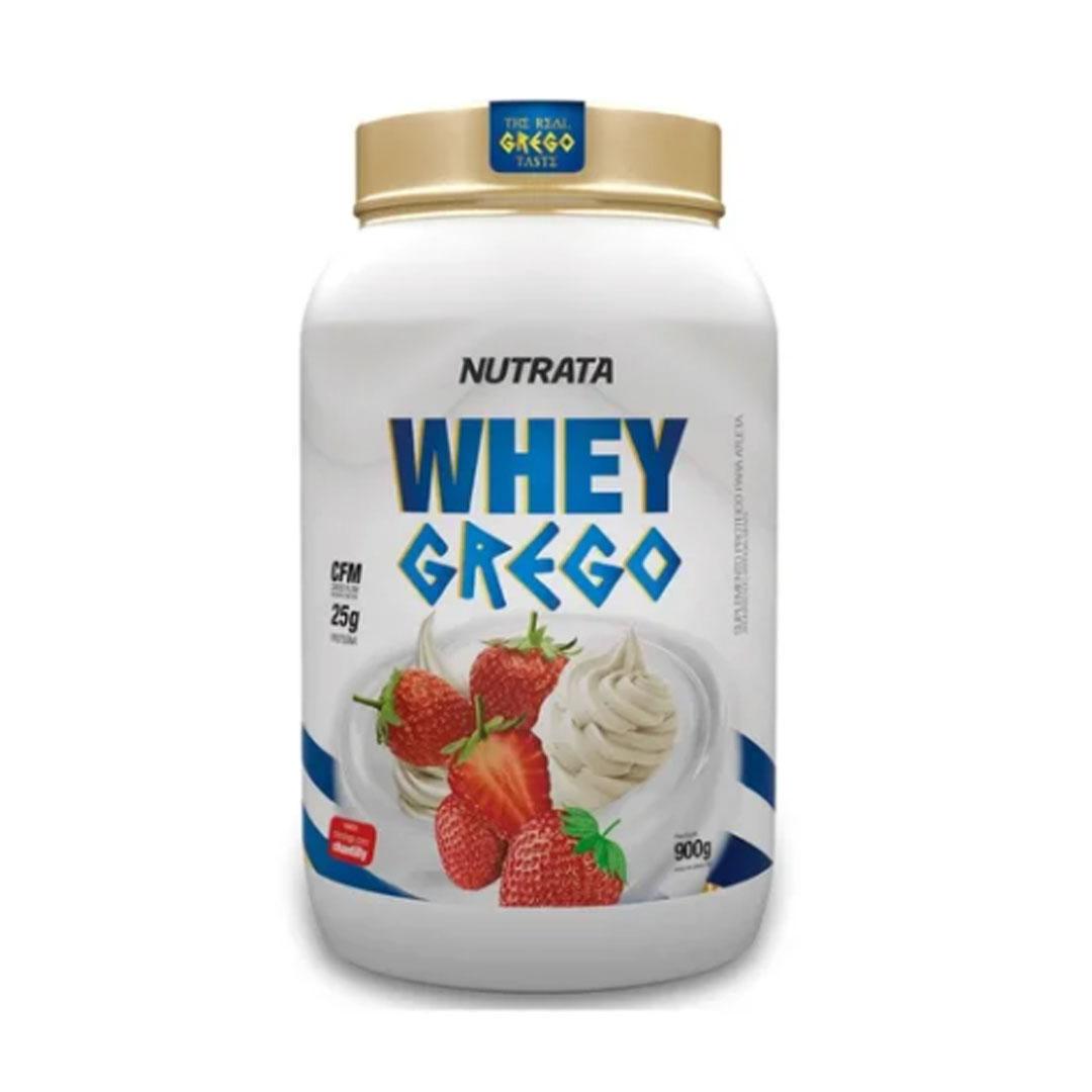 Whey Grego Morango 900g - Nutrata  - KFit Nutrition
