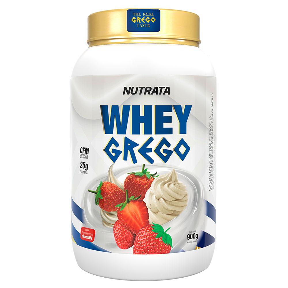 Whey Grego Morango Com Chantilly 900Gg - Nutrata  - KFit Nutrition