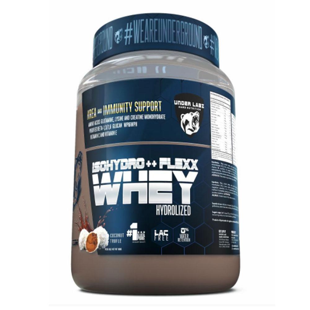 Whey Isohydro Flexx 907g Coconut Trufle - Under Labz  - KFit Nutrition
