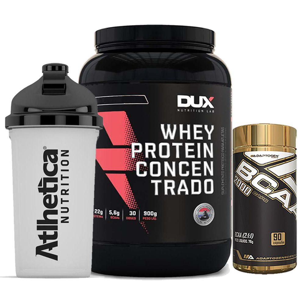 Whey Protein 900g Chocolate + Bcaa 90 Caps + Bottle 500ml  - KFit Nutrition