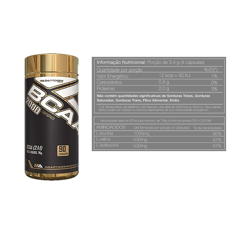 Whey Protein 900g Morango + Bcaa 90 Caps + Bottle 500ml  - KFit Nutrition
