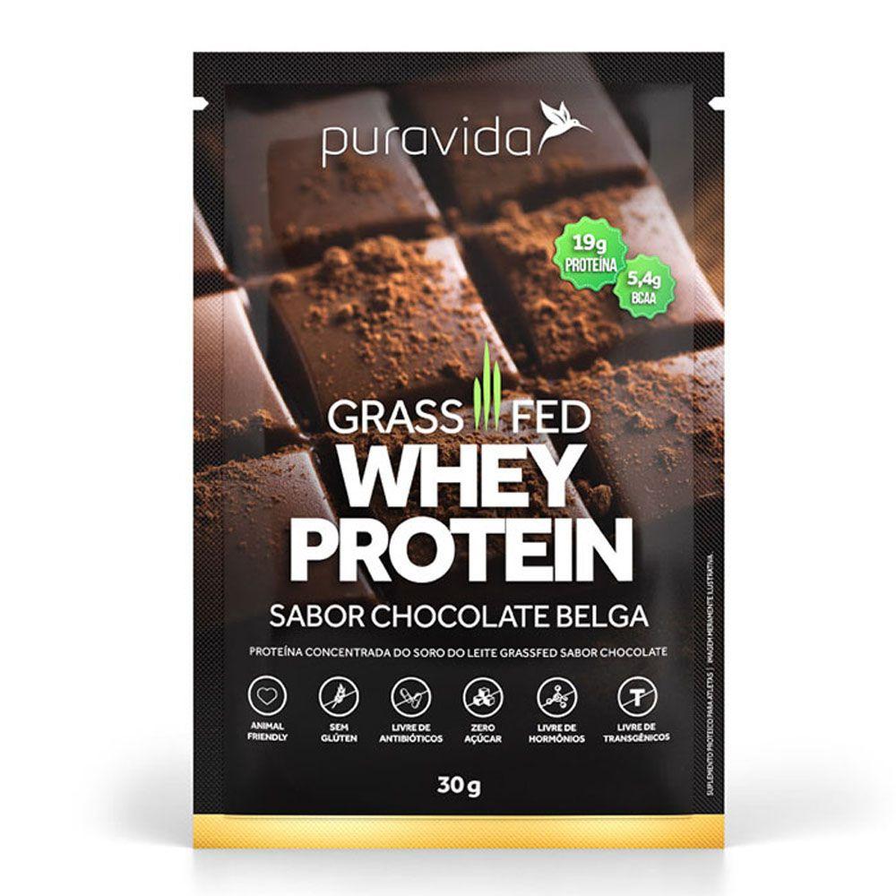 Whey Protein Chocolate Belga 30g - Pura Vida  - KFit Nutrition