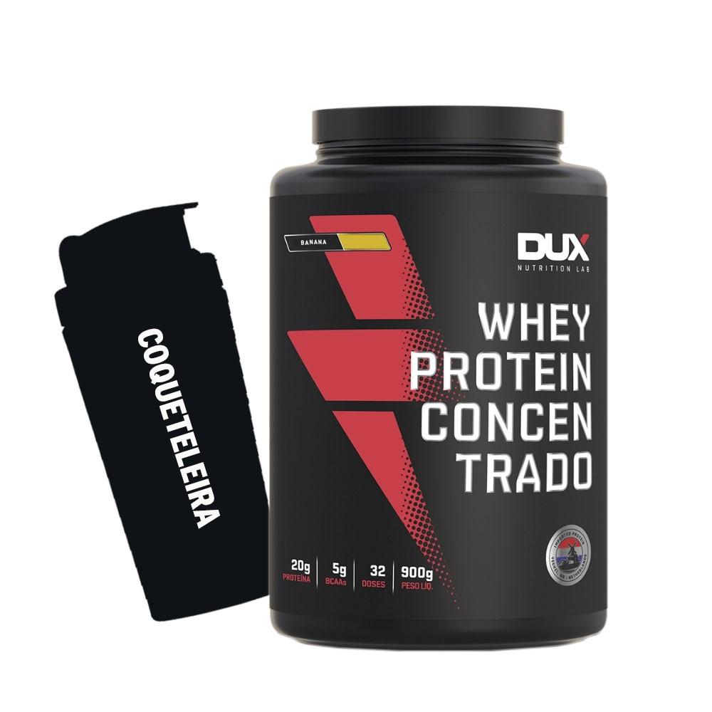 Whey Protein Concentrado 900g Banana + Coqueteleira  - KFit Nutrition
