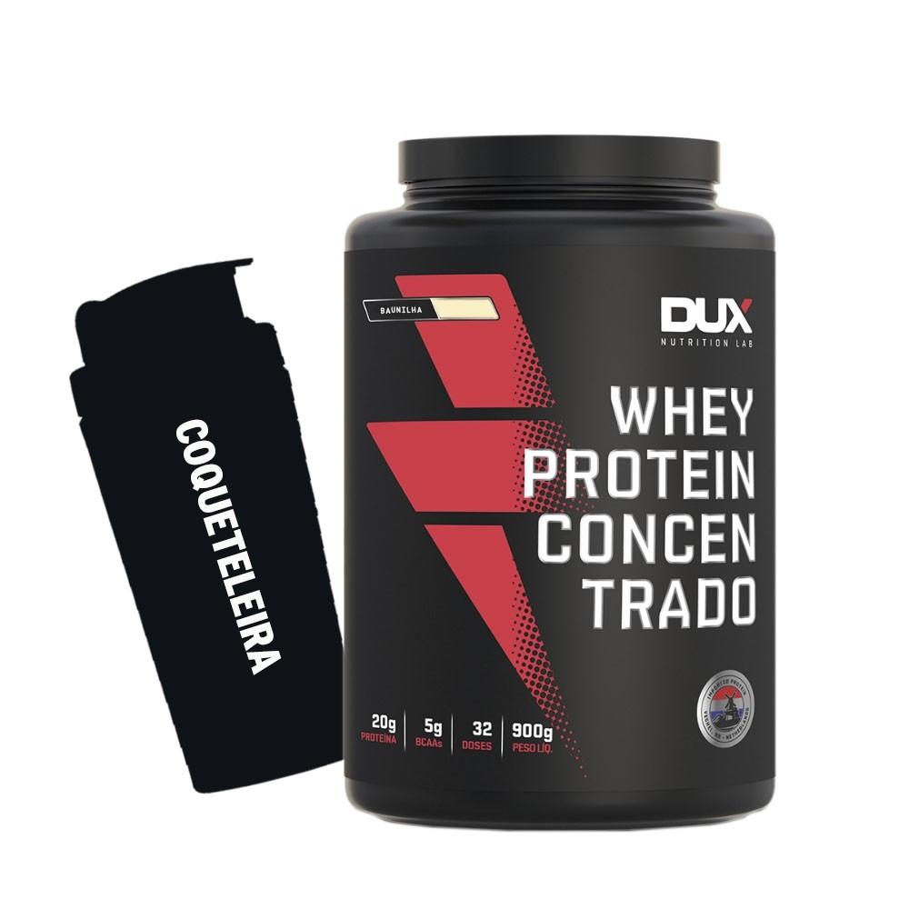 Whey Protein Concentrado 900g Baunilha+ Coqueteleira  - KFit Nutrition