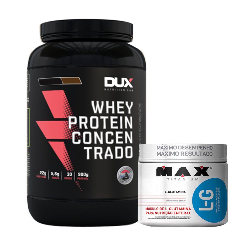 Whey Protein Concentrado 900g Cappuccino + L-glutamina 300g  - KFit Nutrition