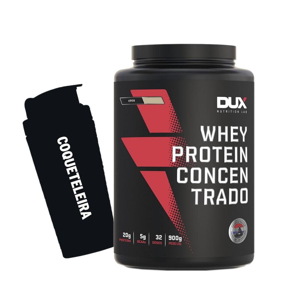 Whey Protein Concentrado 900g Coco + Coqueteleira  - KFit Nutrition