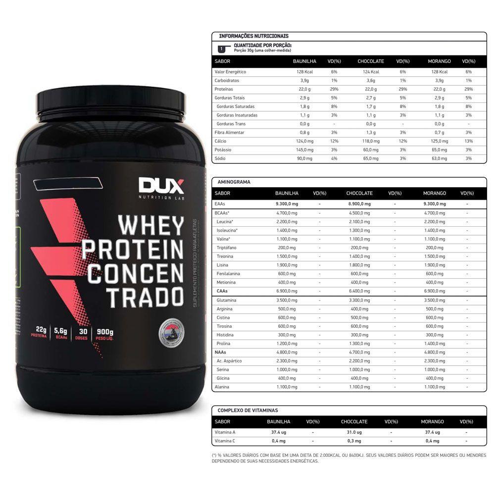 Whey Protein Concentrado Cappuccino 900g Dux  - KFit Nutrition