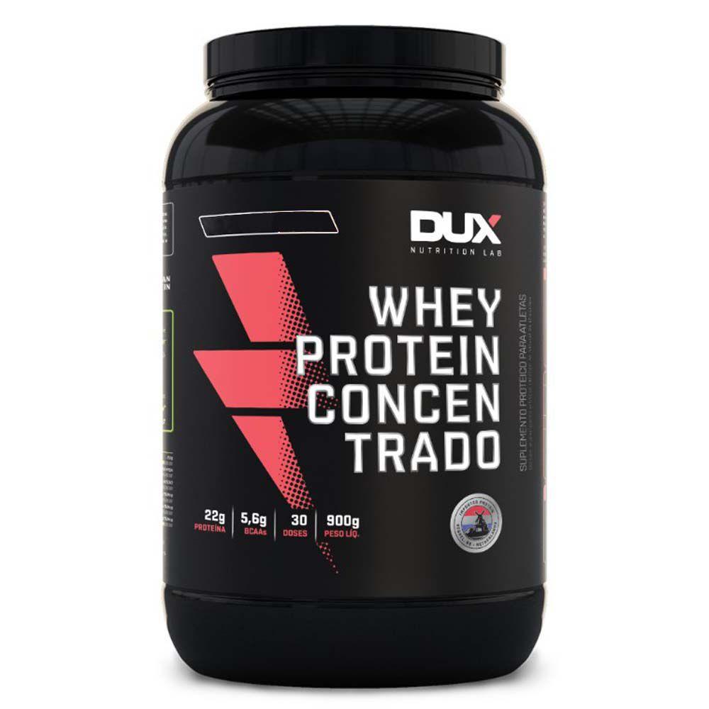 Whey Protein Concentrado Morango 900g Dux  - KFit Nutrition
