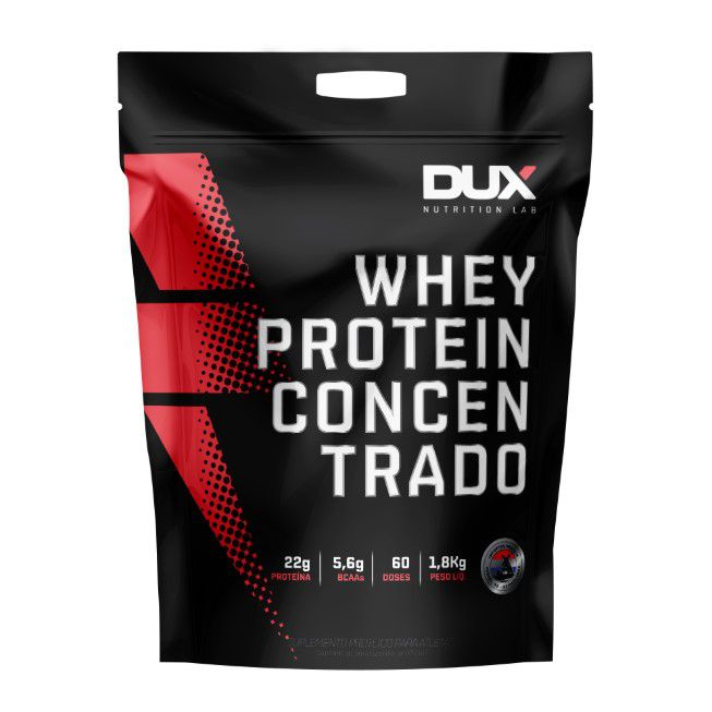 Whey Protein Concentrado Morango Refil 1.800g - Dux  - KFit Nutrition