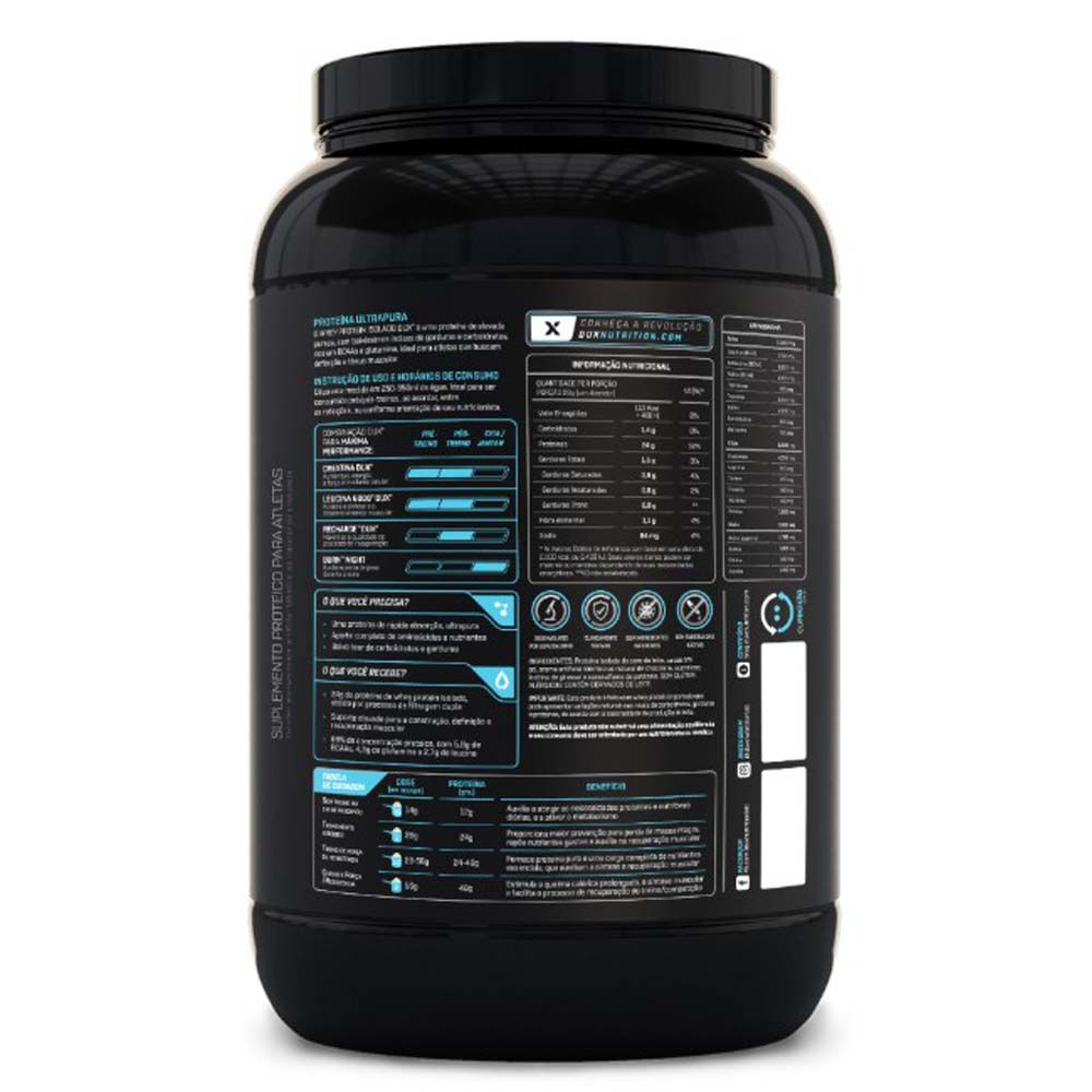 Whey Protein Isolado Baunilha  900g - Dux  - KFit Nutrition