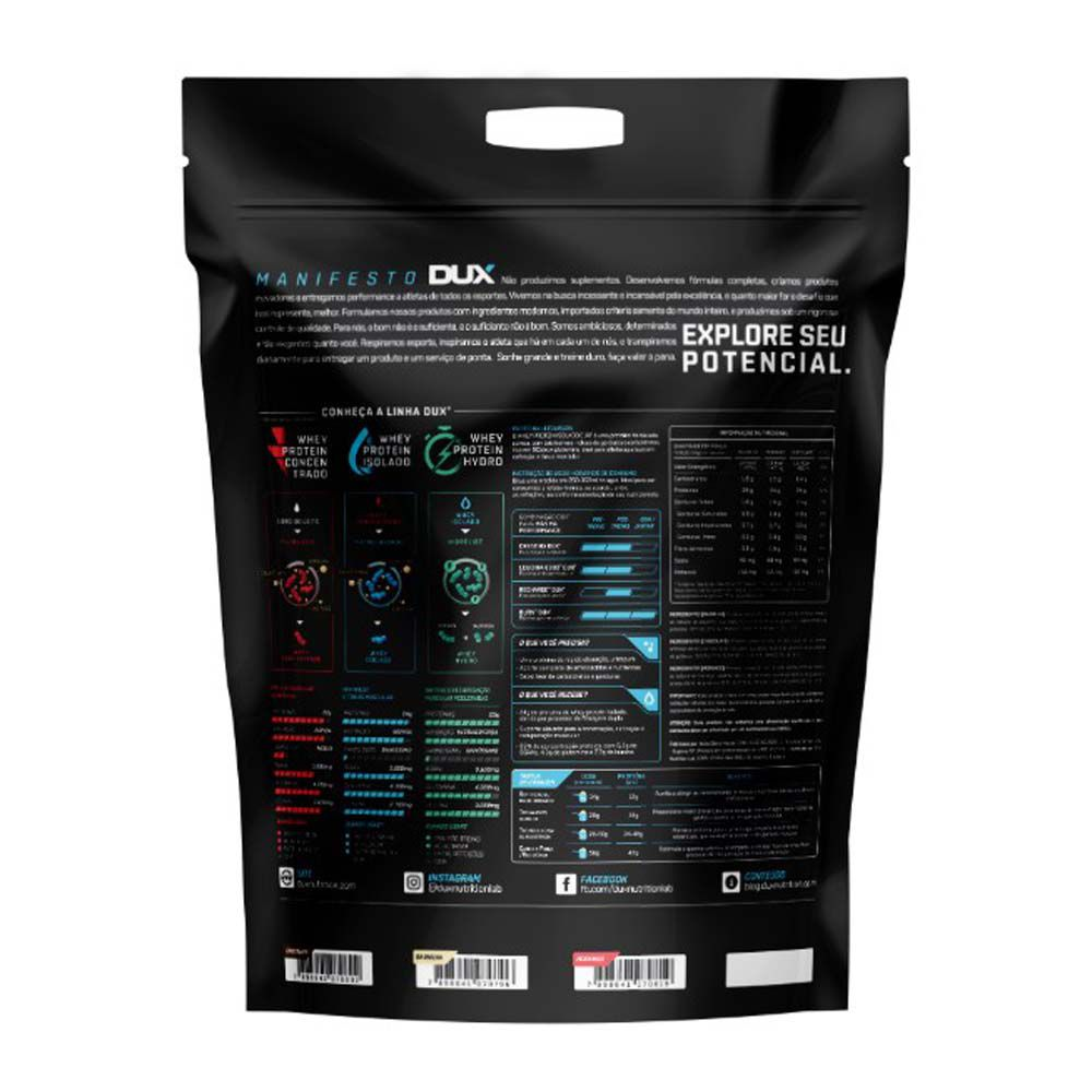 Whey Protein Isolado Chocolate Refil 1.800g - Dux  - KFit Nutrition