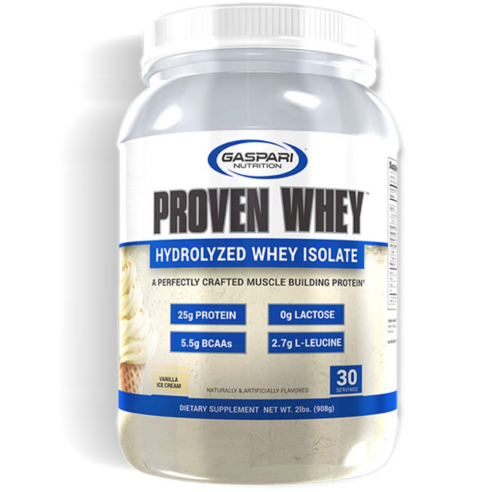 Whey Proven Hydrolyzed Isolate Vanilla Ice Cream 908g Gaspari  - KFit Nutrition