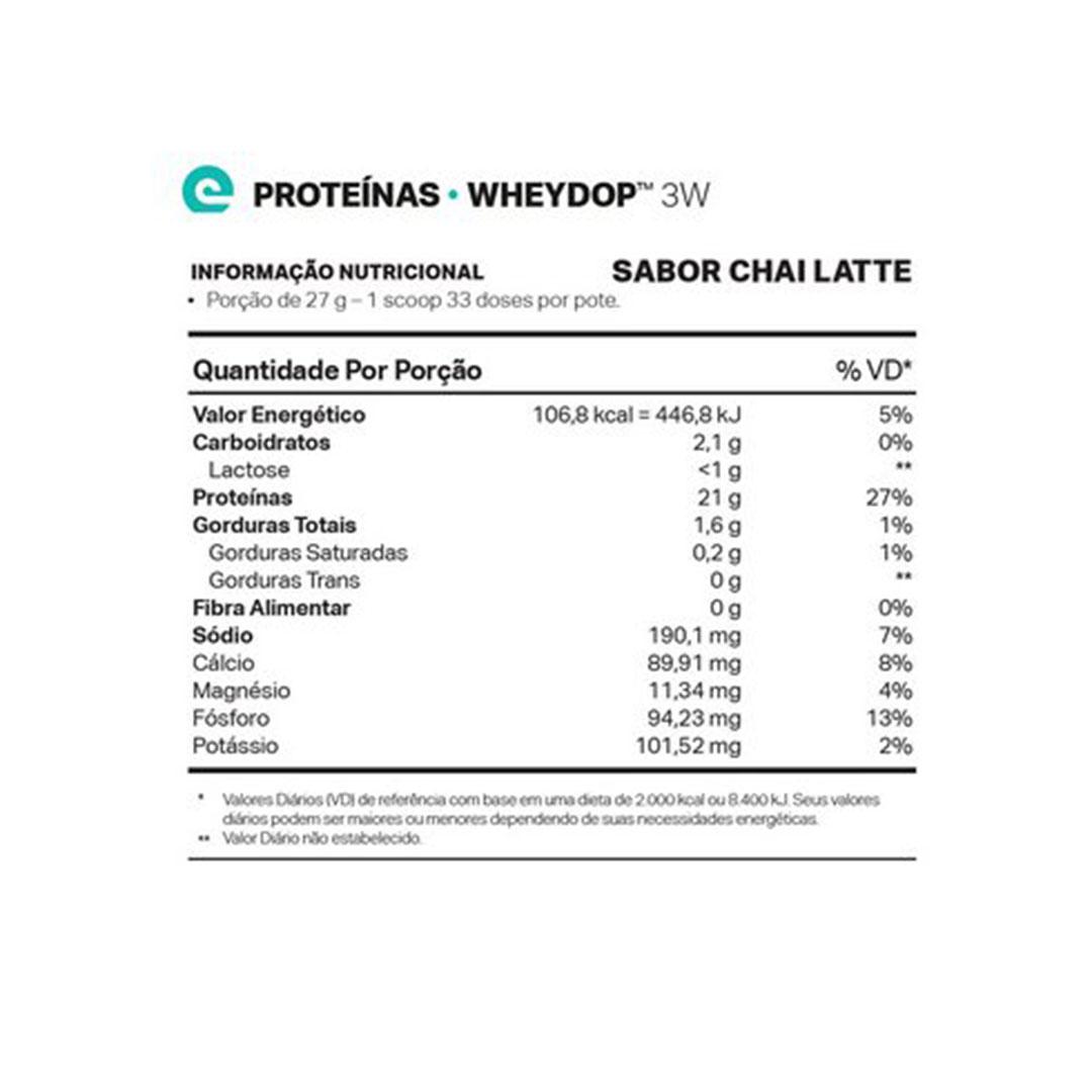 Wheydop 3w Chai Latte 900g - Elementopuro  - KFit Nutrition