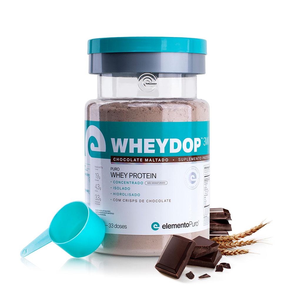 Wheydop 3W Chocolate Maltado 900g - ElementoPuro  - KFit Nutrition
