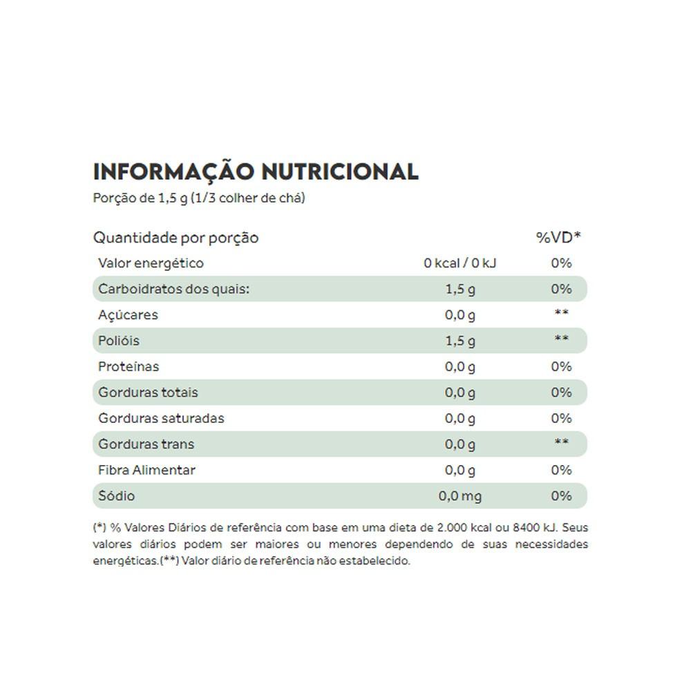 Zero Adoçante Natural Sem Retrogosto 100g - PuraVida  - KFit Nutrition