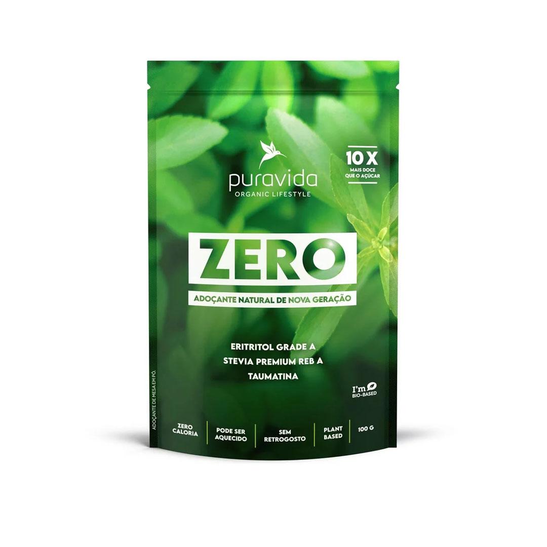 Zero Adoçante Natural sem Retrogosto 100g - Pura Vida  - KFit Nutrition
