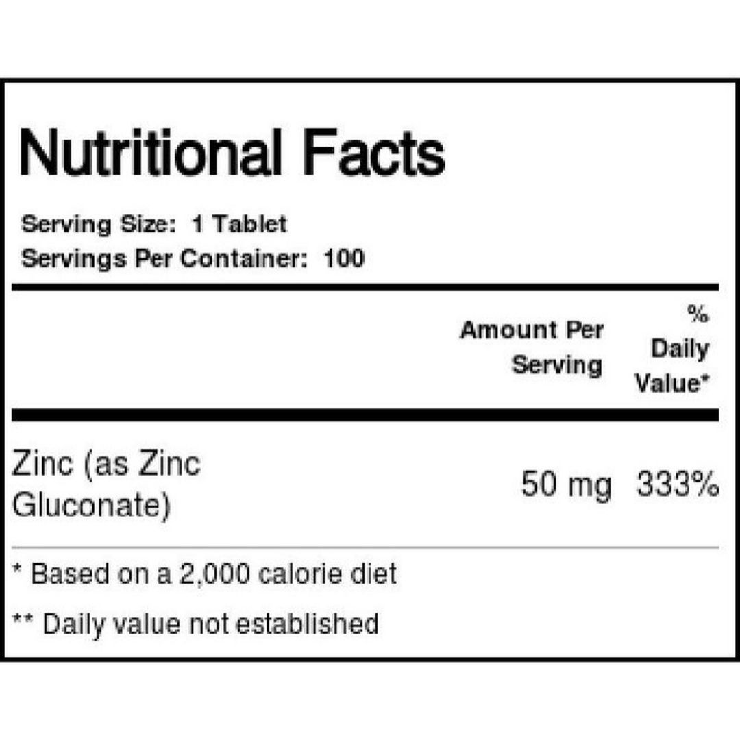 Zinco 100 Tabletes 50mg  Now  - KFit Nutrition