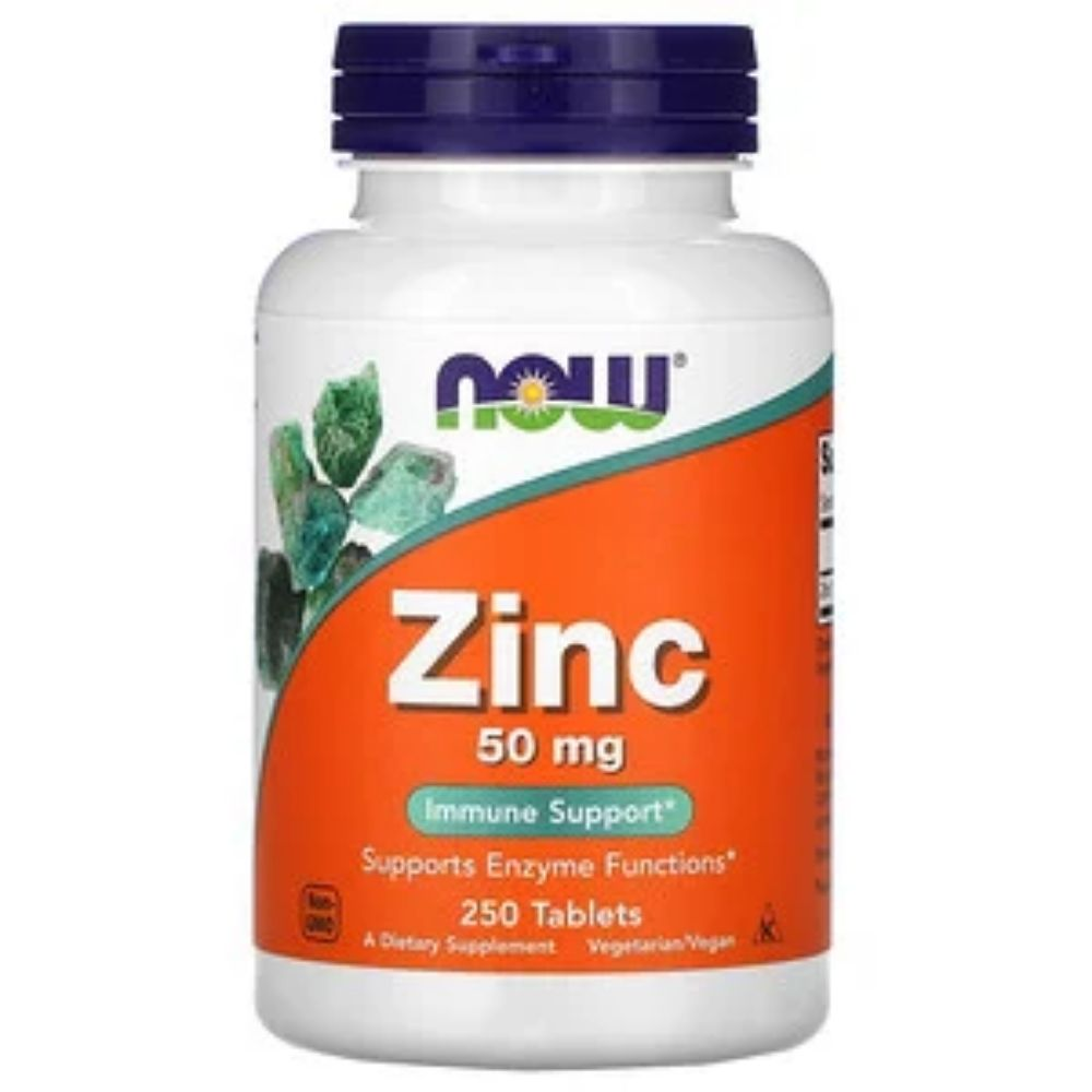 Zinco 50mg 250 Tabletes - Now  - KFit Nutrition