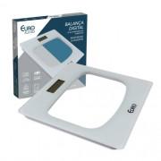 Balança digital para banheiro branca 26X26cm
