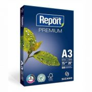 Papel Suzano Report Premium A3  420mm x 297mm  - 500 Folhas