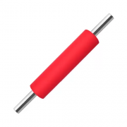 Rolo para massa de silicone vermelho