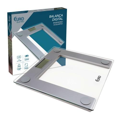 Balança digital para banheiro transparente 30X30c