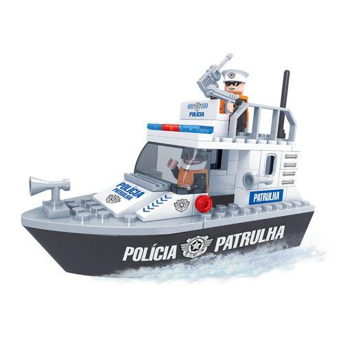 Barco Policial  CL-PL08  83 Peças