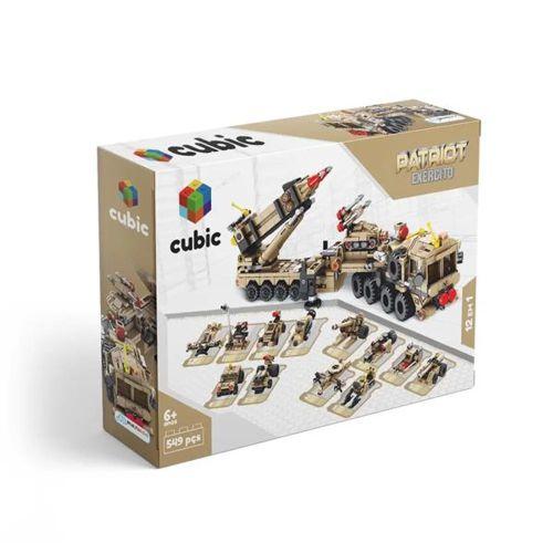 Blocos de Montar Cubic City Exército