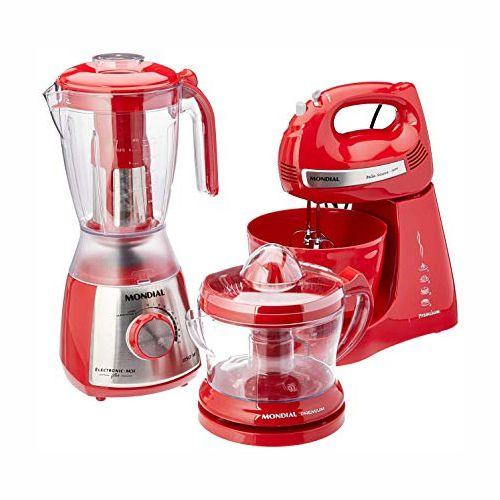 Conjunto Especial Gourmet Red Premium II Inox 127V KT-77