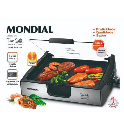 Due Grill Inox Premium Mondial  G-10  127V