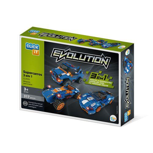 Evolution 3 em 1 Super Carros  CL-EV03  317 Pçs