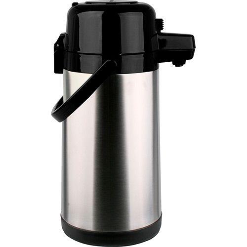 Garrafa térmica Inox premium pressão com alavanca