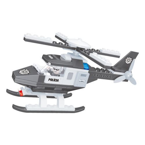 Helicóptero Policial  CL-PL03  80 Peças