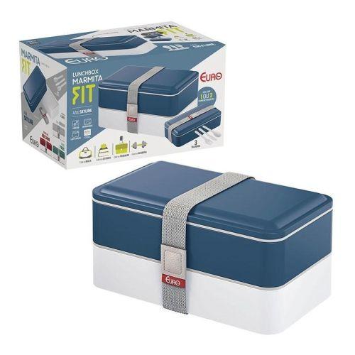 Marmita Lunch Box Fit Azul