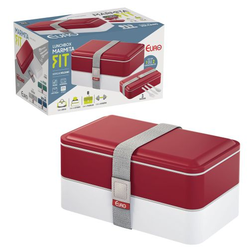 Marmita Lunch Box Fit Vermelha