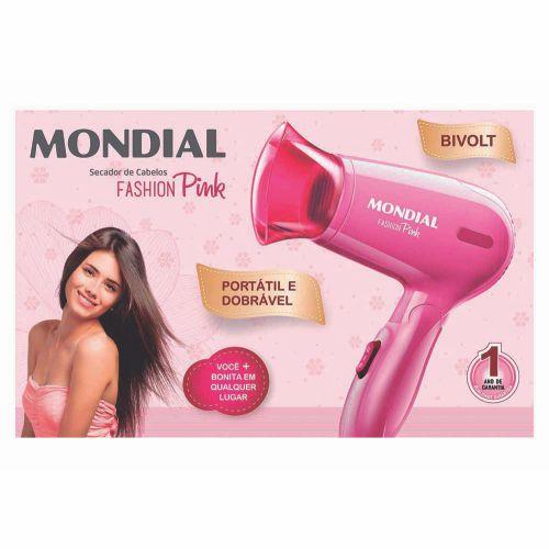 Mini Secador Fashion Pink SC-14 - Bivolt
