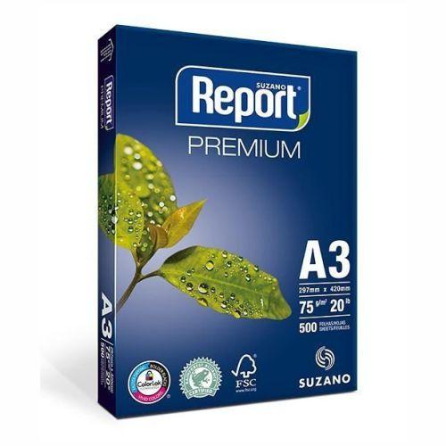 Papel Suzano Report Premium A3  420mm x 297mm  - 500 Folhas