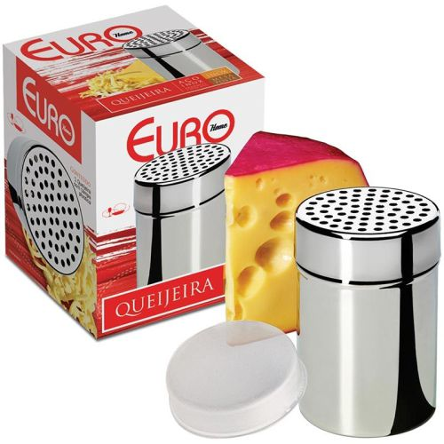 Queijeira inox com tampa plastica 10CM - Euro Home