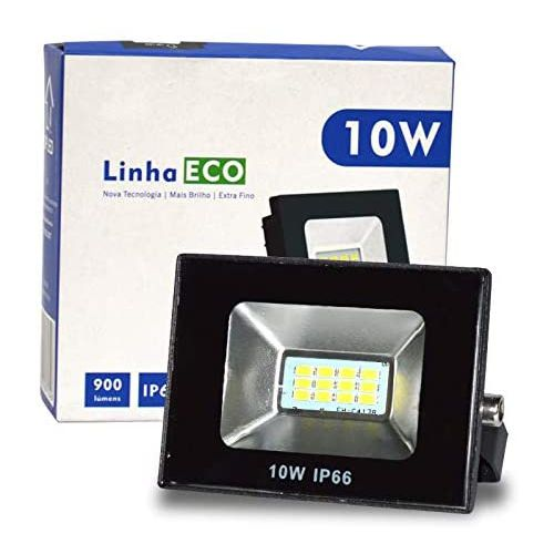 Refletor Eco Led Externo SMD I P66 10W 6500K BR Bivolt UP LED